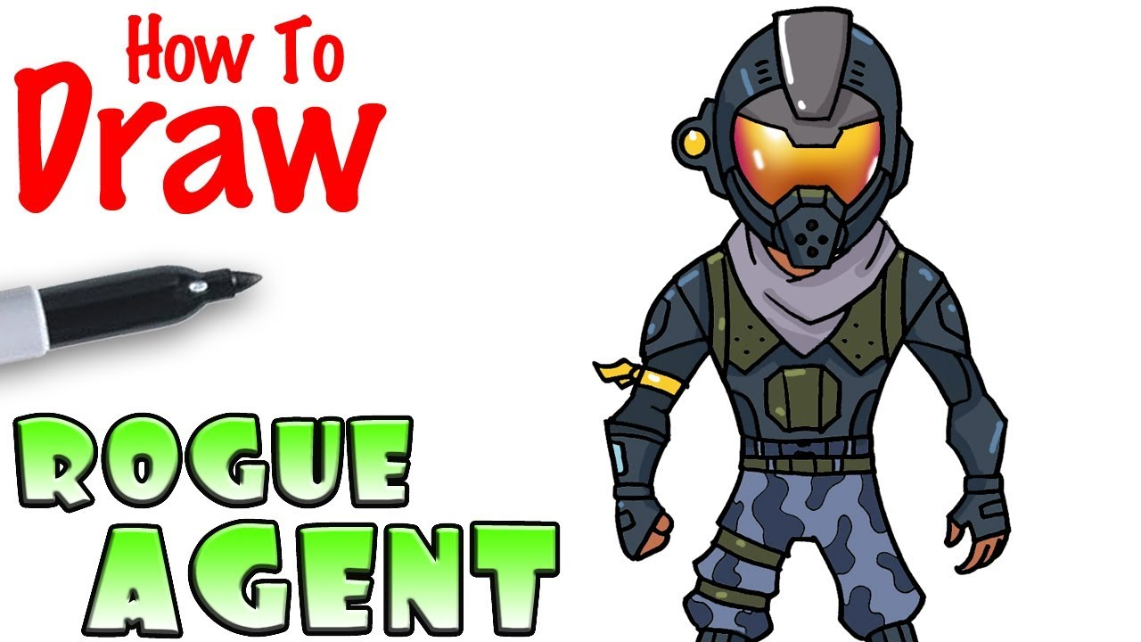 How to Draw the Rogue Agent Fortnite