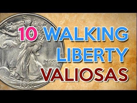 👑10 Monedas Walking Liberty más valiosas y sus precios 2017 🇺🇸 - Monedas de plata