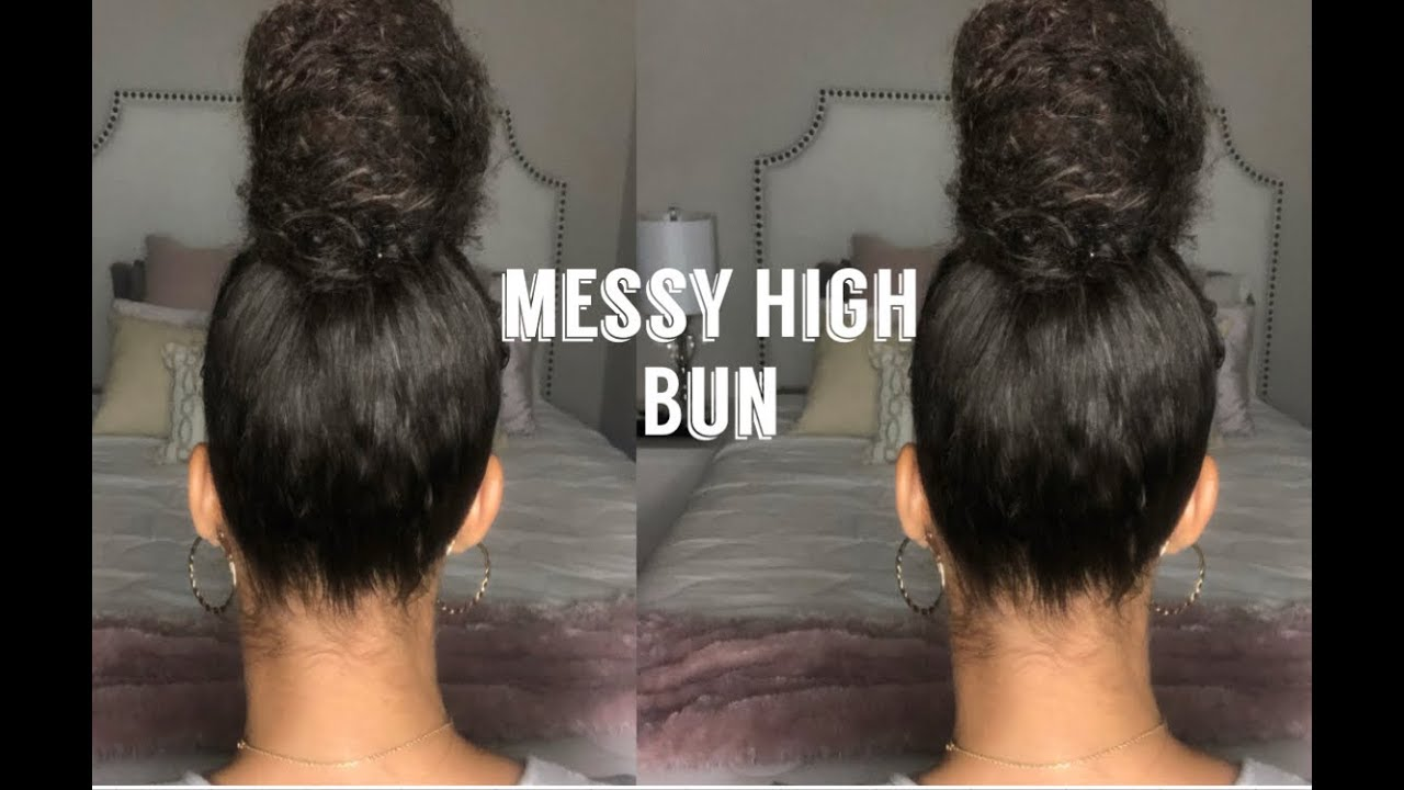 5 MINUTE MESSY BUN   Quick, Easy & Chic   - YouTube