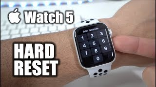 How To Hard Reset your Apple Watch Series 5 - Factory Reset