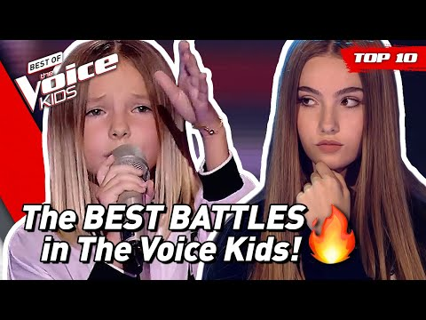 TOP 10 | The BEST BATTLES in The Voice Kids ever! 🔥 (part 2)