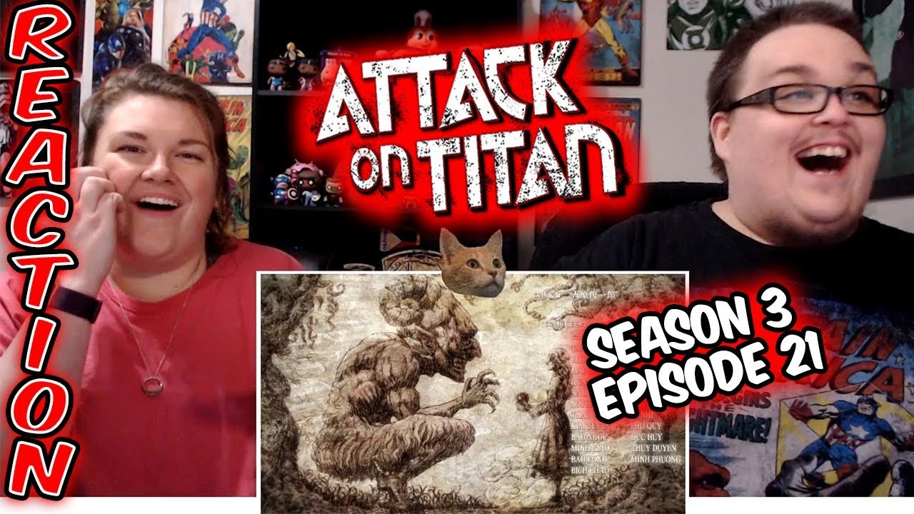 """Attack on Titan 3x21 REACTION!! """"Attack Titan"""" - YouTube"""
