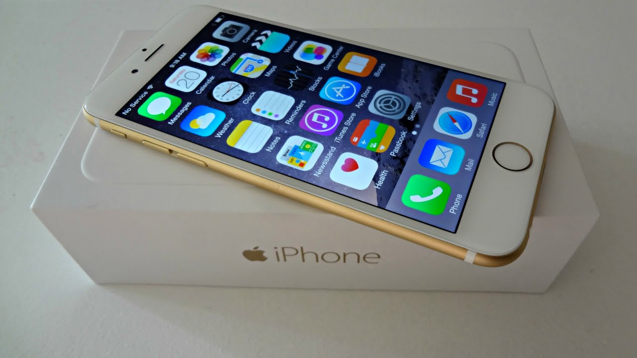Apple IPhone 6 Unboxing Hands On Gold