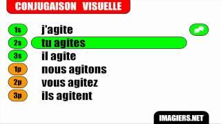 Conjugaison # Indicatif Présent #  Verbe = Agiter