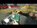 Chevy / GMC Truck: Crank No Start No Communication With FPCM