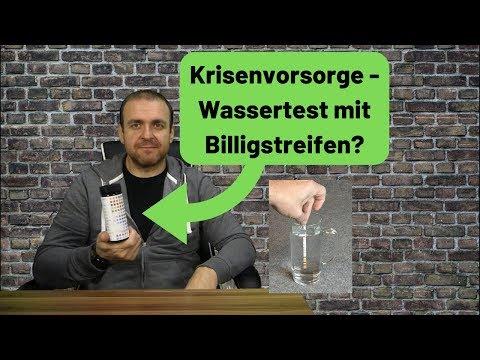 Krisenvorsorge - Wassertest mit billigen Messstreifen?