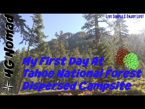 4G Life: First Day at Tahoe Dispersed NF Campsite