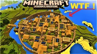 MCPE 1.2 -  INSANE VILLAGER CITY WITH CITY WALL | 4 BLACKSMITHS  | MINECRAFT PE 0.17.0 MAP
