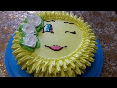 украшаем торты кремом
