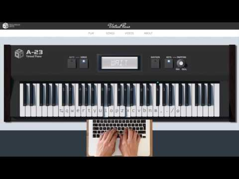 Air in D major (J.S.Bach) - Online Virtual Piano