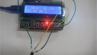 Lập trình vi điều khiển-Phần 40-Hiển thị nhiệt độ trên LCD với Arduino- Signal on LCD keypad