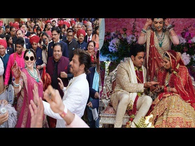 Akash Ambani wedding Ranbir Kapoor ,SRK,Amir Khan, karan johar crazy dance at Barat