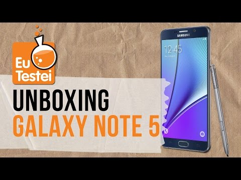 O que tem dentro da caixa do phablet dos phablets Note 5? -Unboxing EuTestei