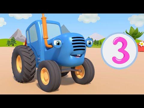 ИГРА В ПЕСОЧНИЦЕ - Синий трактор на детской площадке - Мультфильм