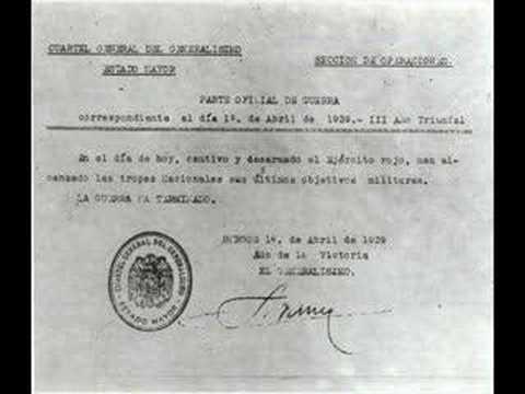 ÚLTIMO PARTE DE LA GUERRA CIVIL ESPAÑOLA 1º. ABRIL 1939
