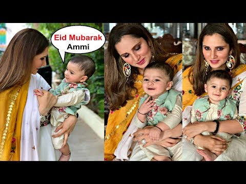 Sania Mirza And Shoaib Malik Son Izhaan Celebration First Eid 2019