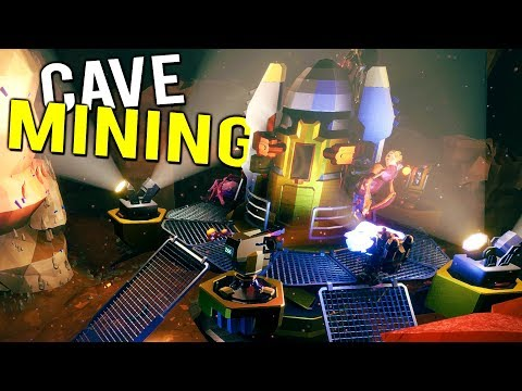 CAVE MINING! MINING FOR GOLD ON AN ALIEN PLANET! - Deep Rock Galactic Multiplayer Gameplay