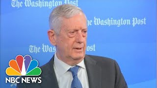 James Mattis: 'We Seem To Have Forgotten That Governance Takes Unity' | NBC News Video