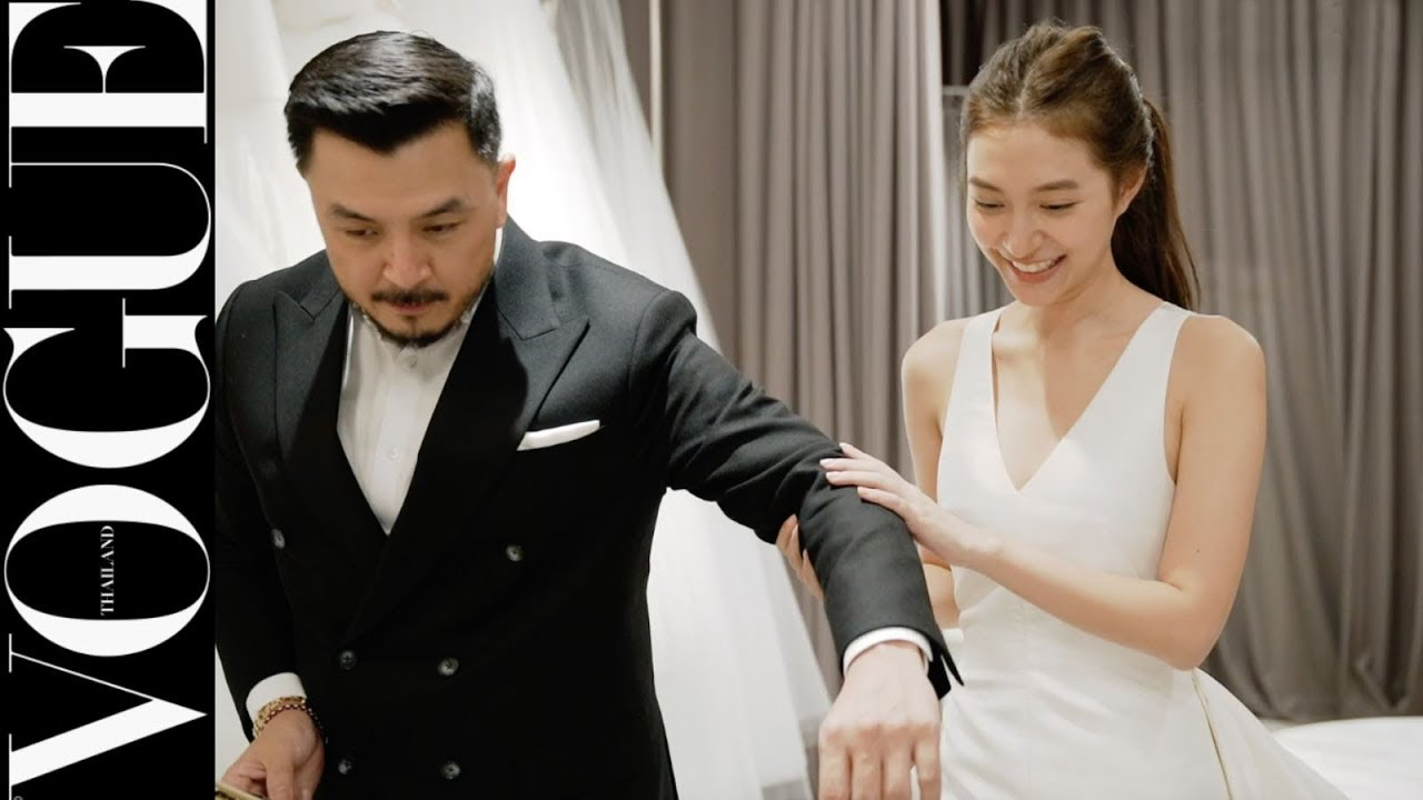 VOGUE WEDDING - ตามติดเบื้องหลังชุดยกน้ำชาของ มิว-นิษฐา ในงานหมั้น ผลงาน WHITE ASAVA