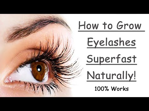 How to Grow Eyelashes Fast Naturally! Thicker Longer at Home - YouTube