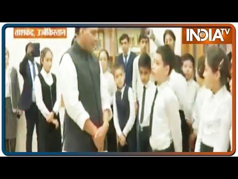 Watch: Uzbek Children Recite Hindi Songs To Defence Minister Rajnath Singh