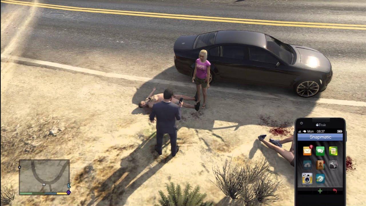 Grand Theft Auto V naked village - YouTube