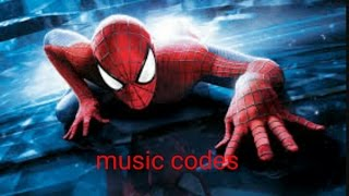 roblox:spiderman music codes for those spidey fans