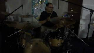 Gypsy Scooter Playing Drums at Church