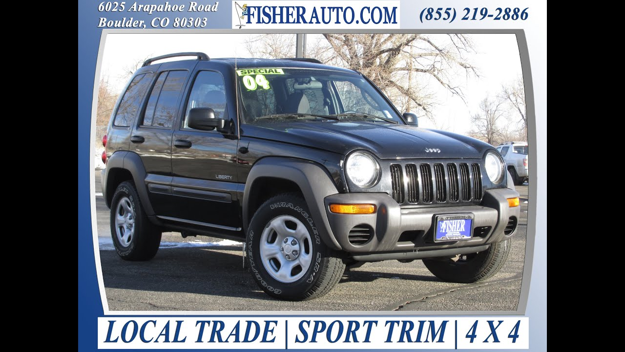 Black 2004 Jeep Liberty Limited
