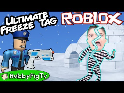 Thumbnail: Roblox EXTREME FREEZE Tag Challenge Part 2! Skate Crash + Jail Cell HobbyPigTV