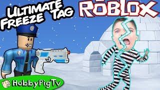 Roblox EXTREME FREEZE Tag Challenge Part 2! Skate Crash + Jail Cell HobbyPigTV