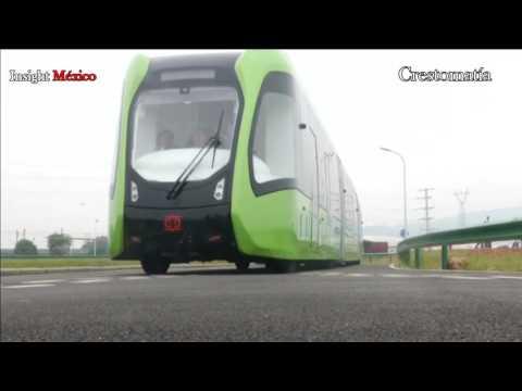 China presenta el primer tren que funciona sin vías