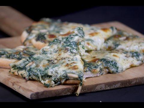 Creamy Spinach Pizza | Sanjeev Kapoor Khazana