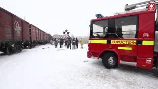 Поезд раздавил грузовик в Коростене - Житомир.info(http://zhitomir.info/news_120658.html 22 марта в Коростене на железнодорожном переезде локомотив протаранил груженую фуру...., 2013-03-22T16:34:49.000Z)