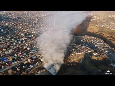 В трех районах нечем дышать - горит свалка Волгоград