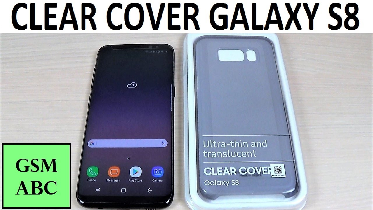 samsung s8 plus clear cover