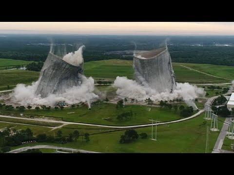14 Millon Dollar Implosion of JEA Cooling Towers Jacksonville Fla.