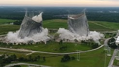 14 Millon Dollar Implosion of JEA Cooling Towers Jacksonville Fla.