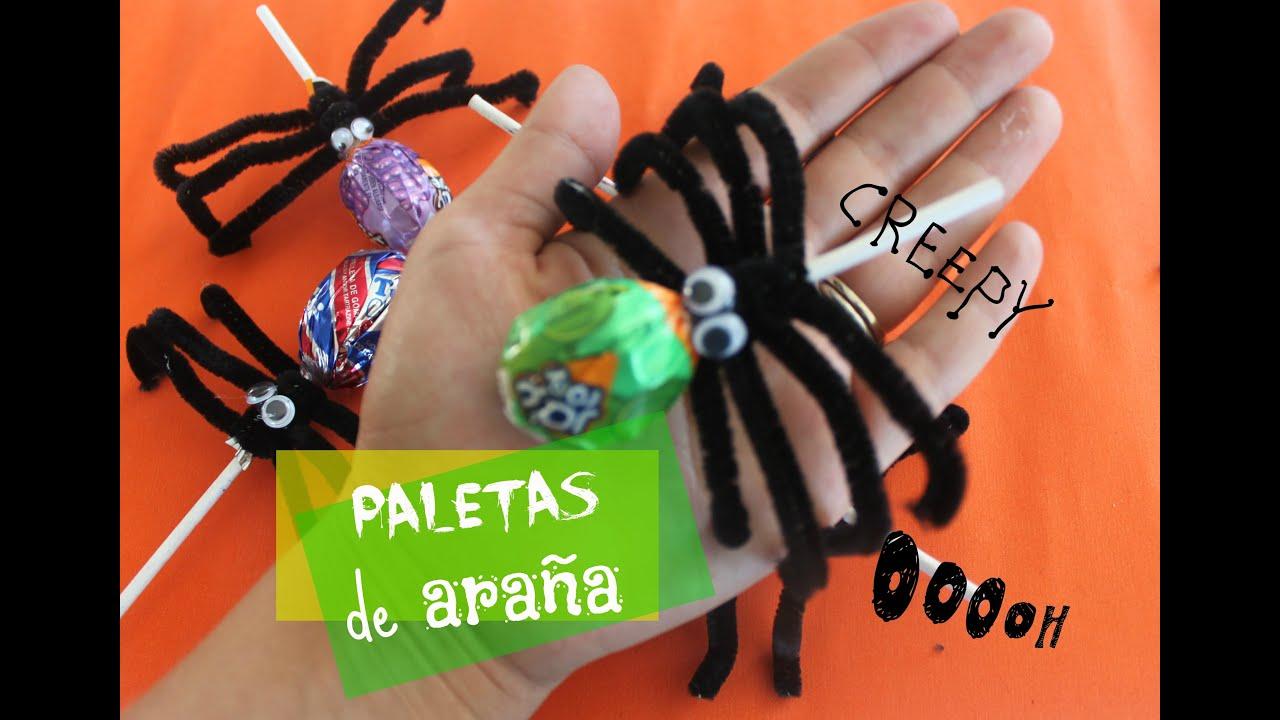 PALETAS DE ARAÑA/HALLOWEEN - YouTube