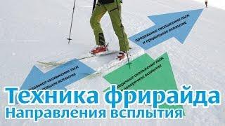 Техника фрирайда на горных лыжах: Направление всплытия