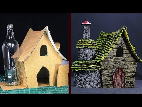 DIY Witch House Using Cardboard
