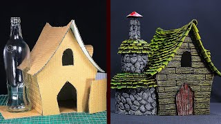 DIY Witch House Using Cardboard