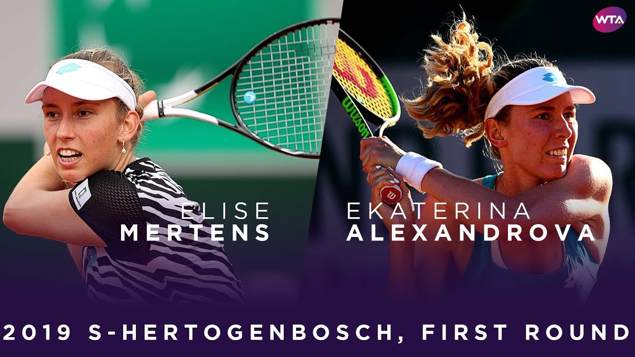 Elise Mertens vs. Ekaterina Alexandrova | 2019 Libema Open First Round | WTA Highlights