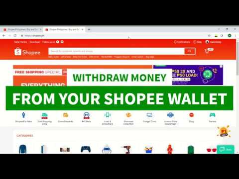 How To Withdraw Money From Shopee Wallet Youtube