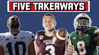 5 Takeaways from Week 4 of the College Football Season