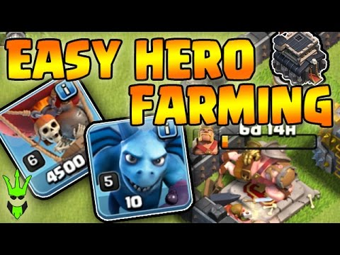 LOONION IS EASY!! - Leveling up TH9 King - Clash of Clans - Easy Dark Elixir Farming