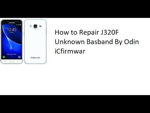 How to Repair J320F Unknown Basband By Odin