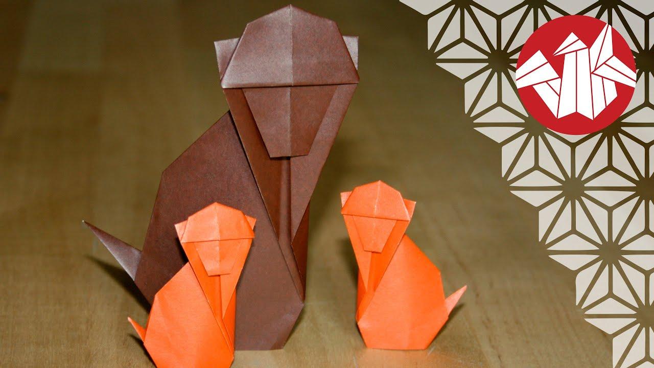 origami facile singe