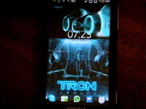Tron Legacy Live Android Wallpaper
