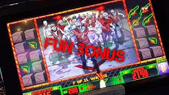 Zombie Outbreak - Fun Zombie Escape Bonus w/ live play - Slot Machine Bonus